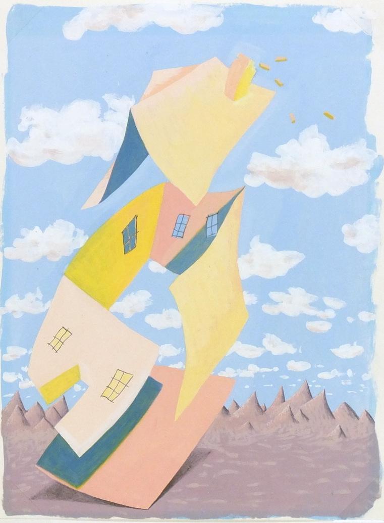 Abstract Acrylic - After Survage, Circa 1950-main-5947G