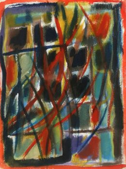Modern Acrylic Abstract, Circa 1975-main-5952G