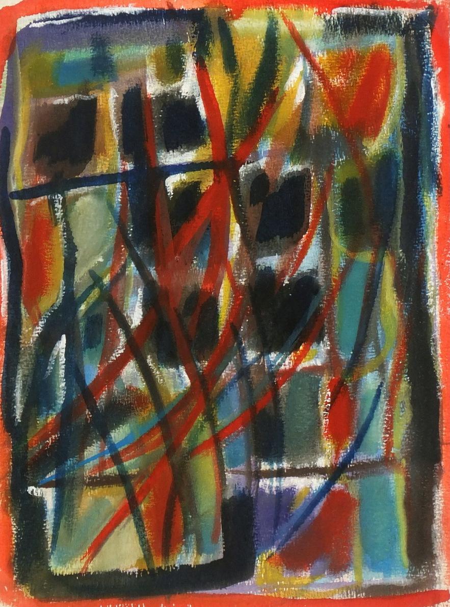 Modern Acrylic Abstract, Circa 1975-main-5952G