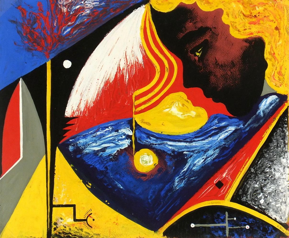 Abstract Acrylic - Visage, 1957-main-5956G