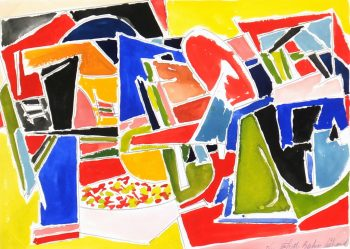 French Watercolor Abstract, 2006-main-5986G
