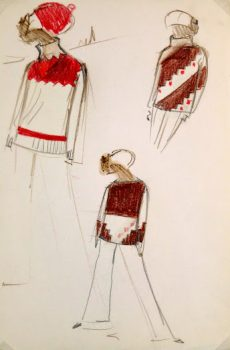 Balmain Fashion Sketch - Sweaters, Circa 1960-main-6044G