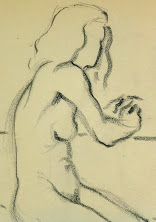 Charcoal Drawing - Female Nude, Circa 1930-deatil-6052G