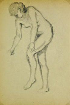 Charcoal Drawing - Female Nude, Circa 1930-main-6054G