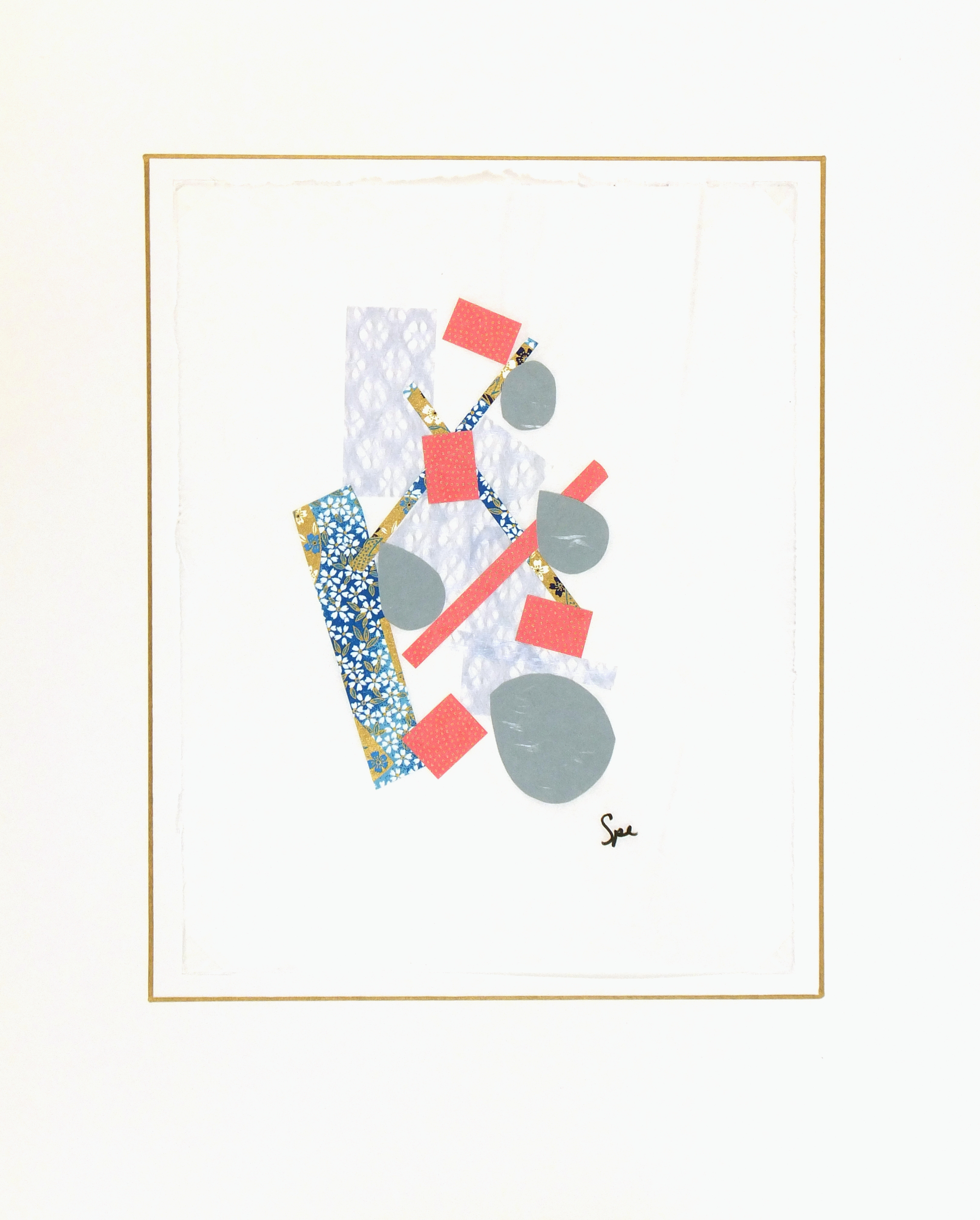 Abstract Collage - Japanese Modern III, 2013-matted-6093G