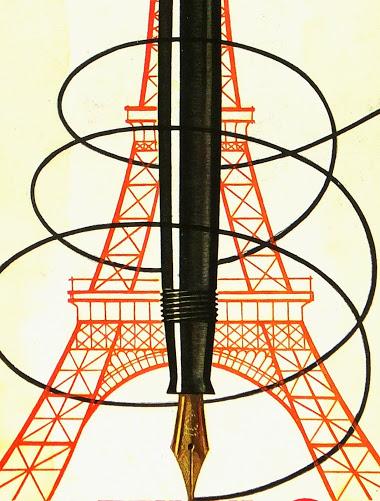 Eiffel Tower Pens Print, Circa 1930-detail-6161K