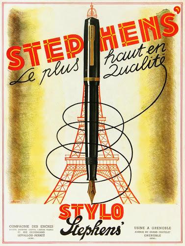 Eiffel Tower Pens Print, Circa 1930-main-6161K