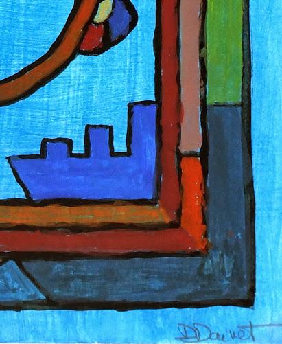 Abstract Acrylic - Sourire en Bleu, 2012-detail 2-6354G