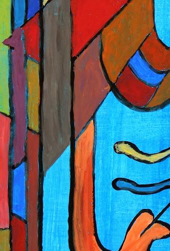 Abstract Acrylic - Sourire en Bleu, 2012-detail-6354G