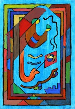 Abstract Acrylic - Sourire en Bleu, 2012-main-6354G
