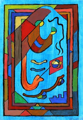 Abstract Acrylic - Sourire en Bleu, 2012-main-6354G