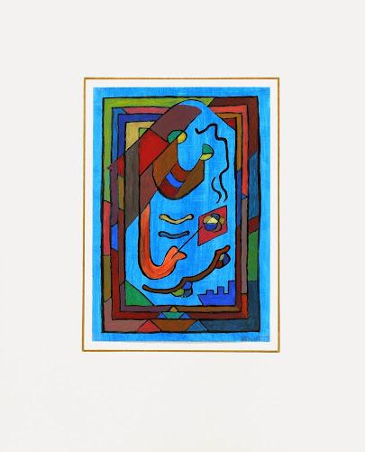 Abstract Acrylic - Sourire en Bleu, 2012-matted-6354G