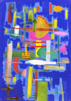Abstract Acrylic & Gouache - Vie Moderne, 1970-main-6360G