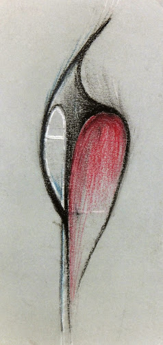 Abstract Drawing Modern Shape Circa 1960
