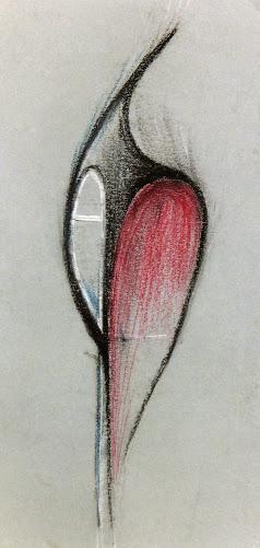 Abstract Drawing - Modern Shape, Circa 1960-main-6363G