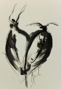 Abstract Ink Wash - Dancers, 2012-main-6371G