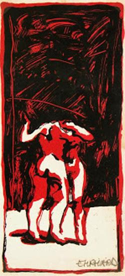 Lithograph - Nude Tango-main-7521G