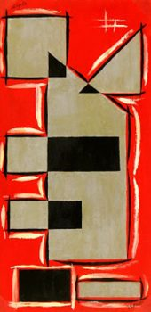 Abstract Geometric Gouache, Circa 1950-main-7525G