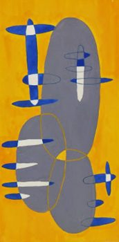 Abstract Gouache - Ovals, Circa 1950-main-7527G