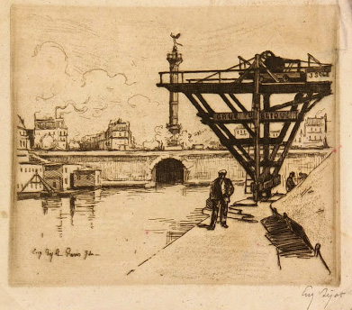 Etching - Parisian Harbor, Circa ?-main-7529G