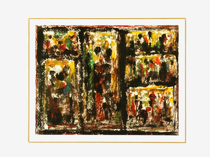 Abstract Acrylic - Windows-matted-7535G