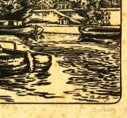 Woodcut - On the River, 1922-detail 2-7538G