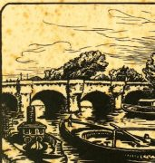 Woodcut - On the River, 1922-detail-7538G