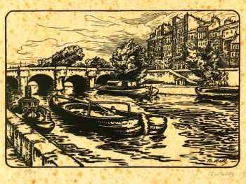 Woodcut - On the River, 1922-main-7538G