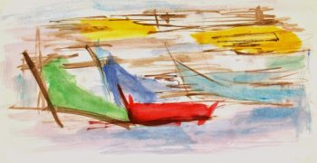 Watercolor Abstract - Boats-main-7540G