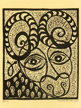 Ram Woodcut, 1975-main-7550G