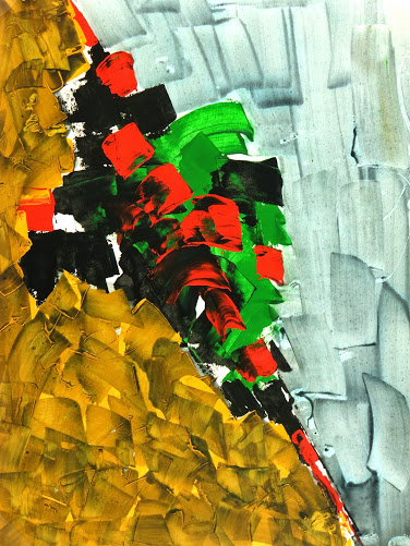 Modern Abstract Acrylic Painting-main-7555G
