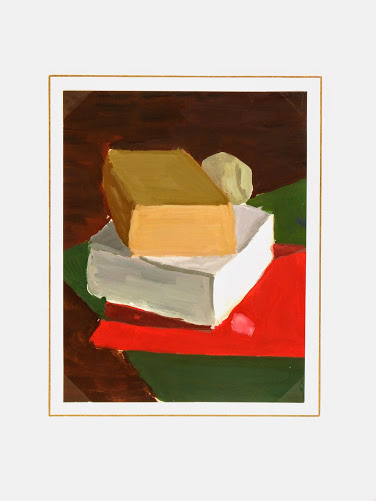 Acrylic Still Life - Books-matted-7556G