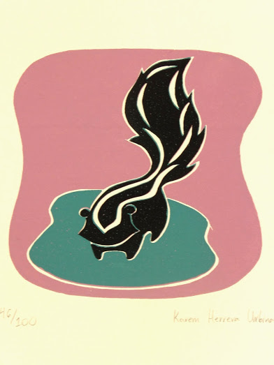 Lithograph - Skunk, 2012-main-7559G