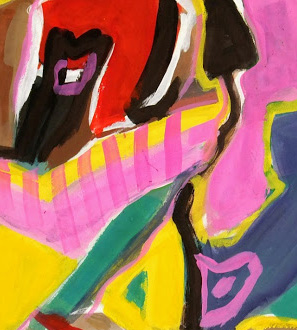 Gouache Abstract - Vibrancy-detail-7569G