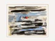 Gouache Abstract - On the Dot-matted-7570G