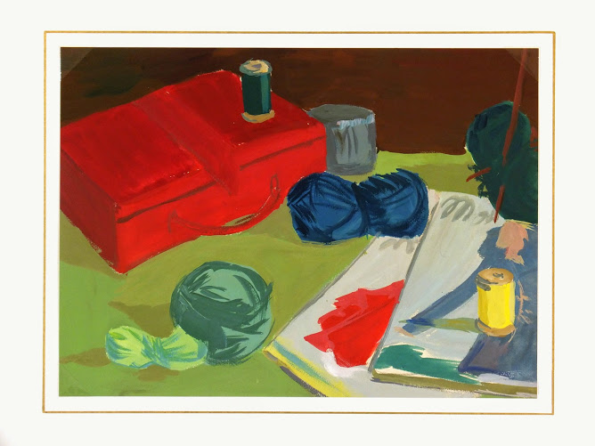 Gouache Still Life - Crafting Corner-matted-7571G