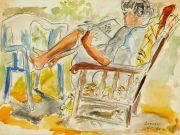 Watercolor - Reclining, 1990-main--7573G
