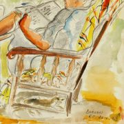 Watercolor - Reclining, 1990-detail-7573G