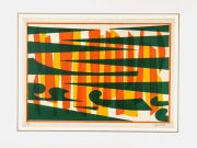 Abstract Lithograph - A Fresh Perspective-matted-7582G