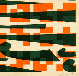 Abstract Lithograph - Pixels & Waves-detail-7584G