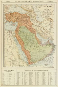 Vintage Asia Minor & Arabia Map, 1907-main-7681K