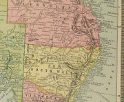 Map of Australia, 1890-detail-8204K