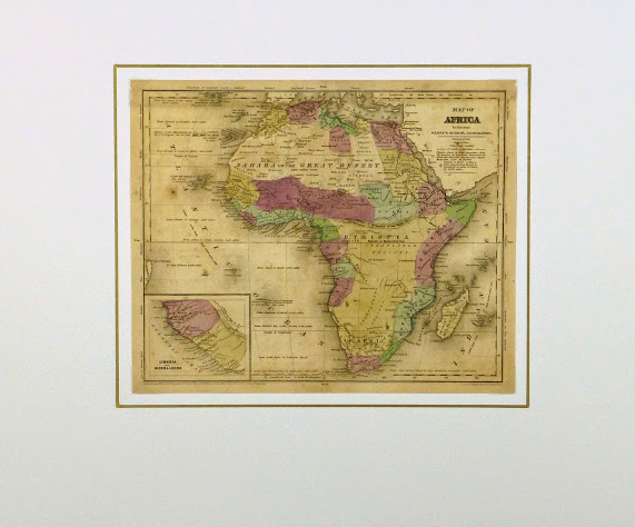 Map - Africa, 1844-matted-8562K