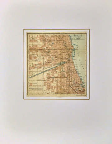 Map of Chicago, 1904-matted-8788K