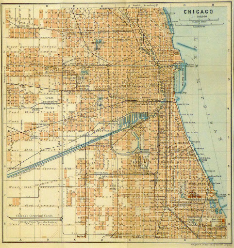 Map of Chicago, 1904-main-8788K