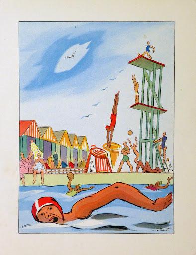 Pool Day Print, 1932-main-9106K