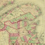 Quebec, Canada Map, 1868-detail-9358K