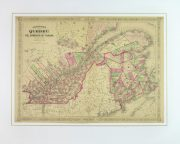 Quebec, Canada Map, 1868-matted-9358K