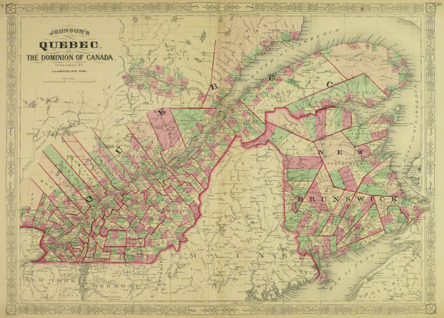 Quebec, Canada Map, 1868-main-9358K