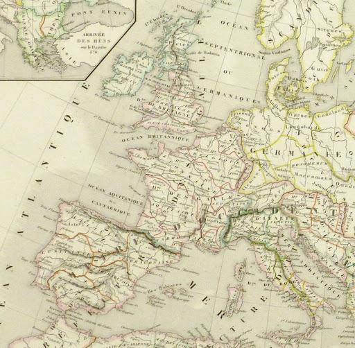 Roman Empire Map, 1845-detail 2-9404K